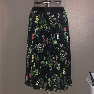 Accordion pleat skirt from Express